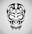 Tribal Skull Face vector image