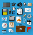Flat icons bundle vector image vector image