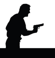 man with gun silhouette vector image