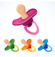 baby's dummy in different colors vector image