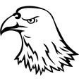 Eagle head tattoo vector image vector image