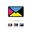 a cmyk envelope set vector image