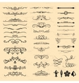 Decorative vintage elements vector image