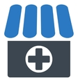 Drugstore icon from Business Bicolor Set vector image