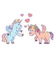 hand drawn unicorns in love vector image