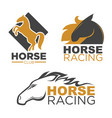 horse racing sport club isolated running vector image