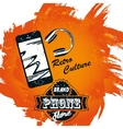 retro banner shop phones vector image