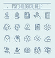 set symbols of psychological help vector image