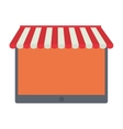 shopping online tablet order service vector image