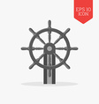 Steering wheel icon Flat design gray color symbol vector image