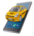 tax mobile service vector image