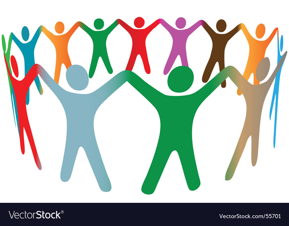Colorful people vector