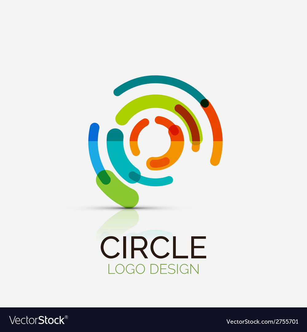 Hitech circle company logo business concept vector