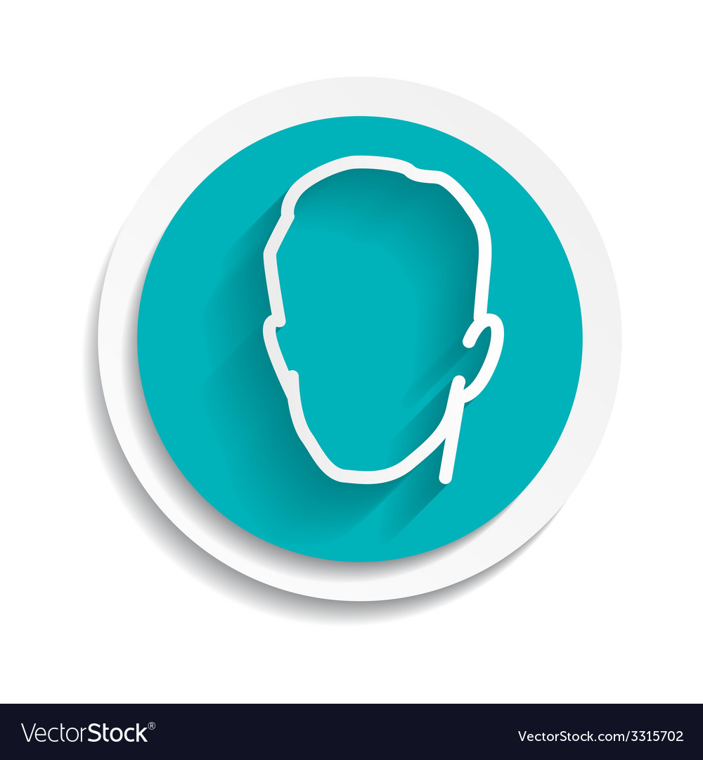 Head icon isolated on white background vector