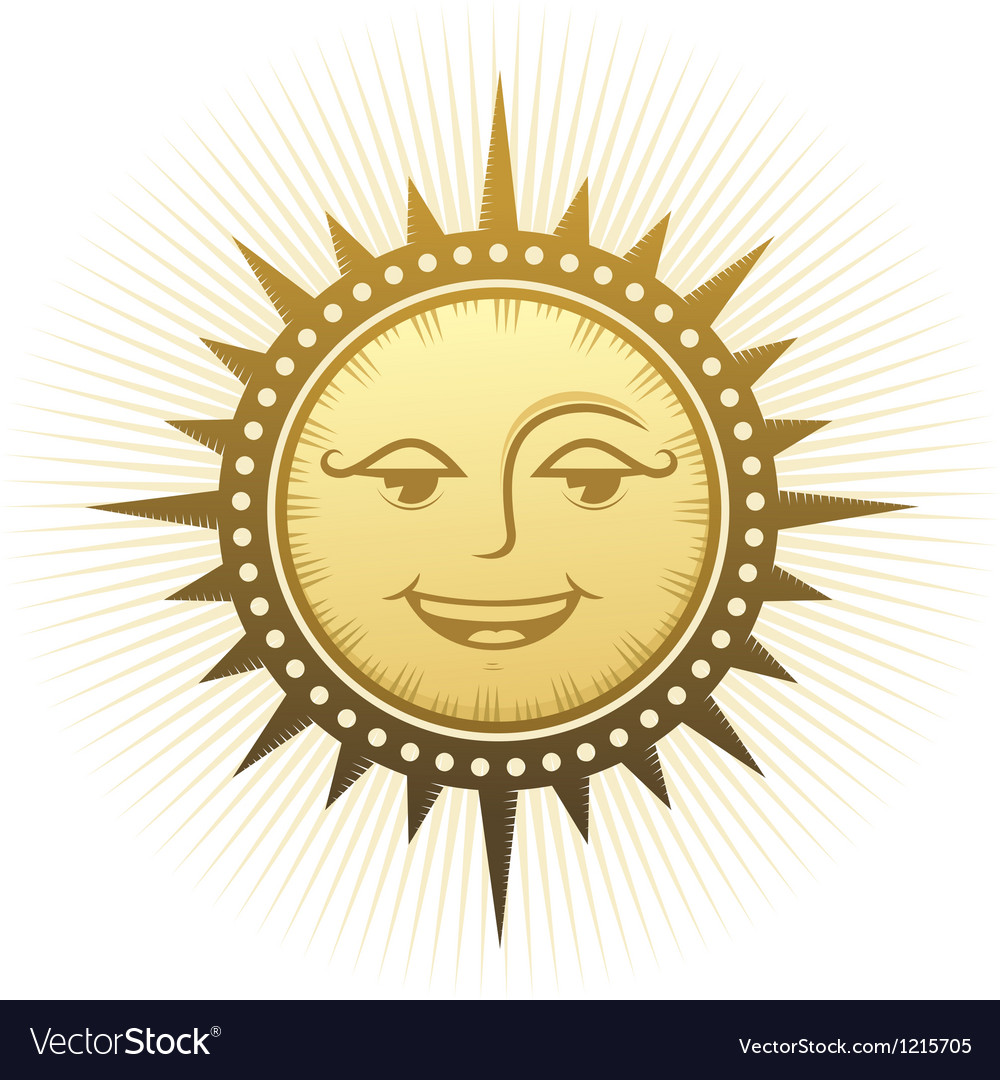 Ethnic laughing sun vector