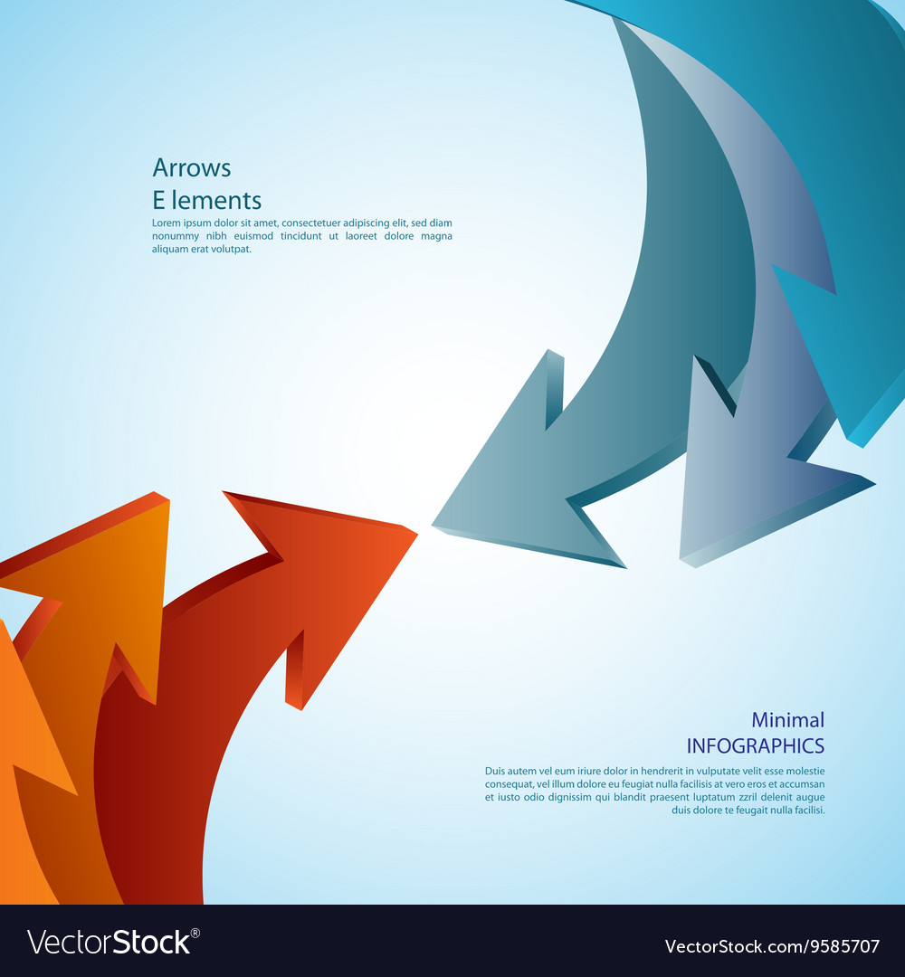 Abstract arrows detailed vector