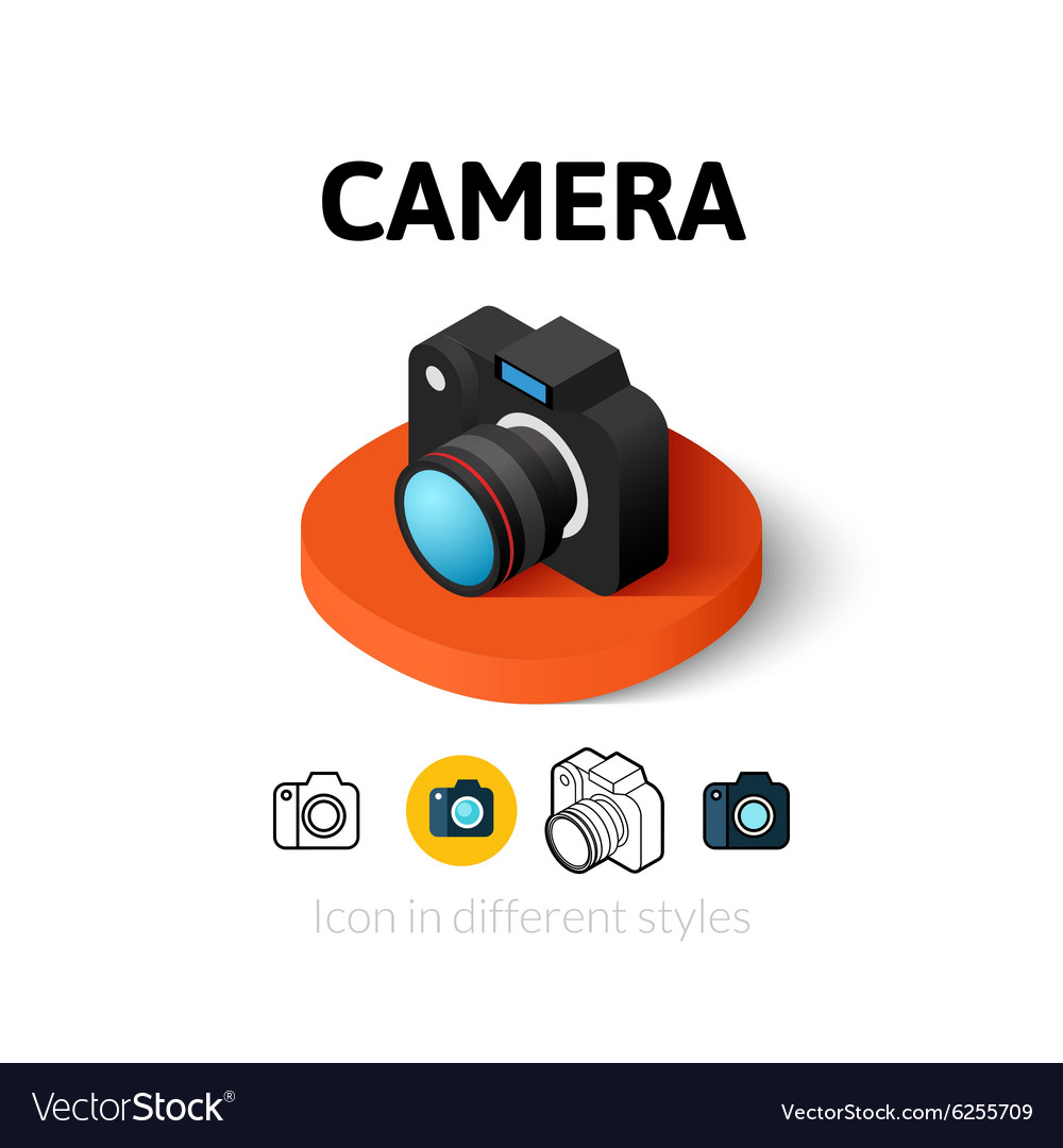 Camera icon in different style vector
