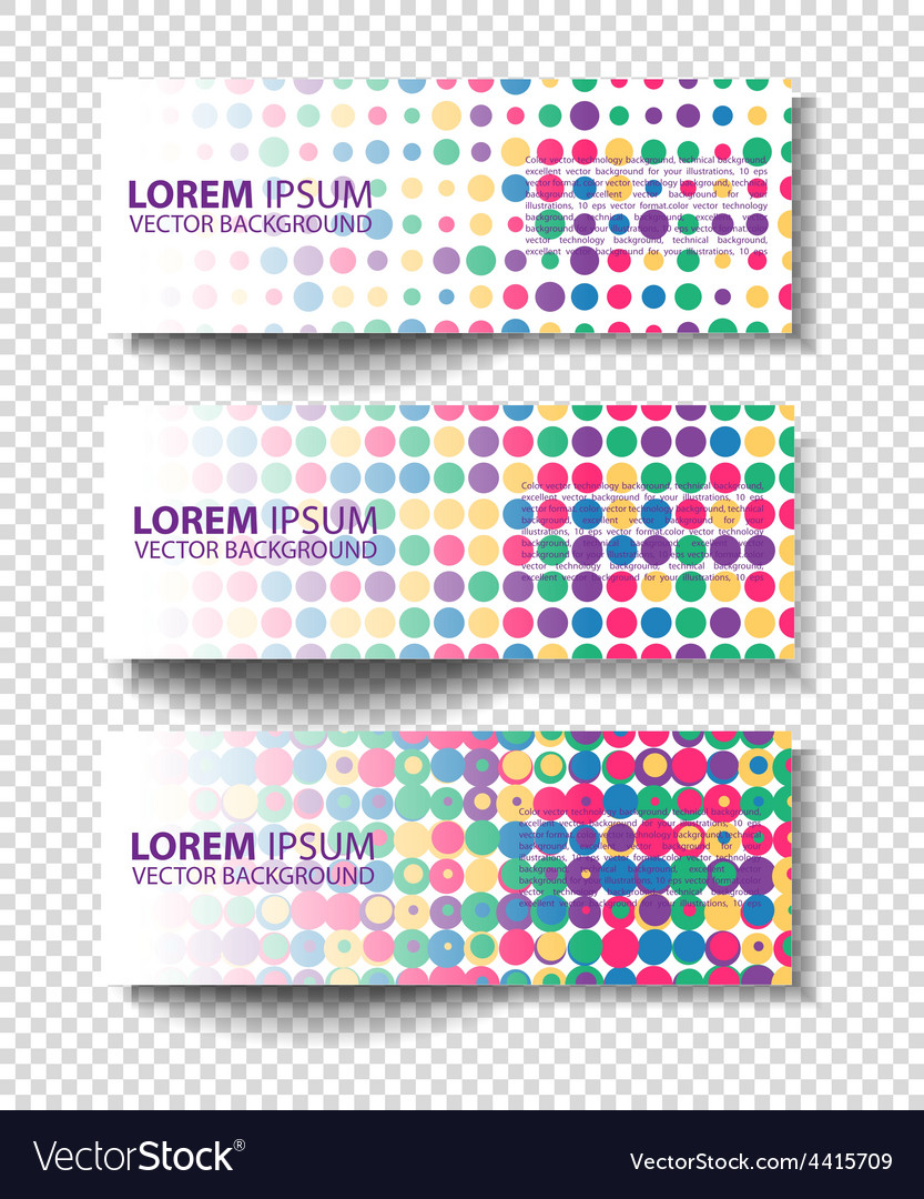 Set of colored rectangular banners vector