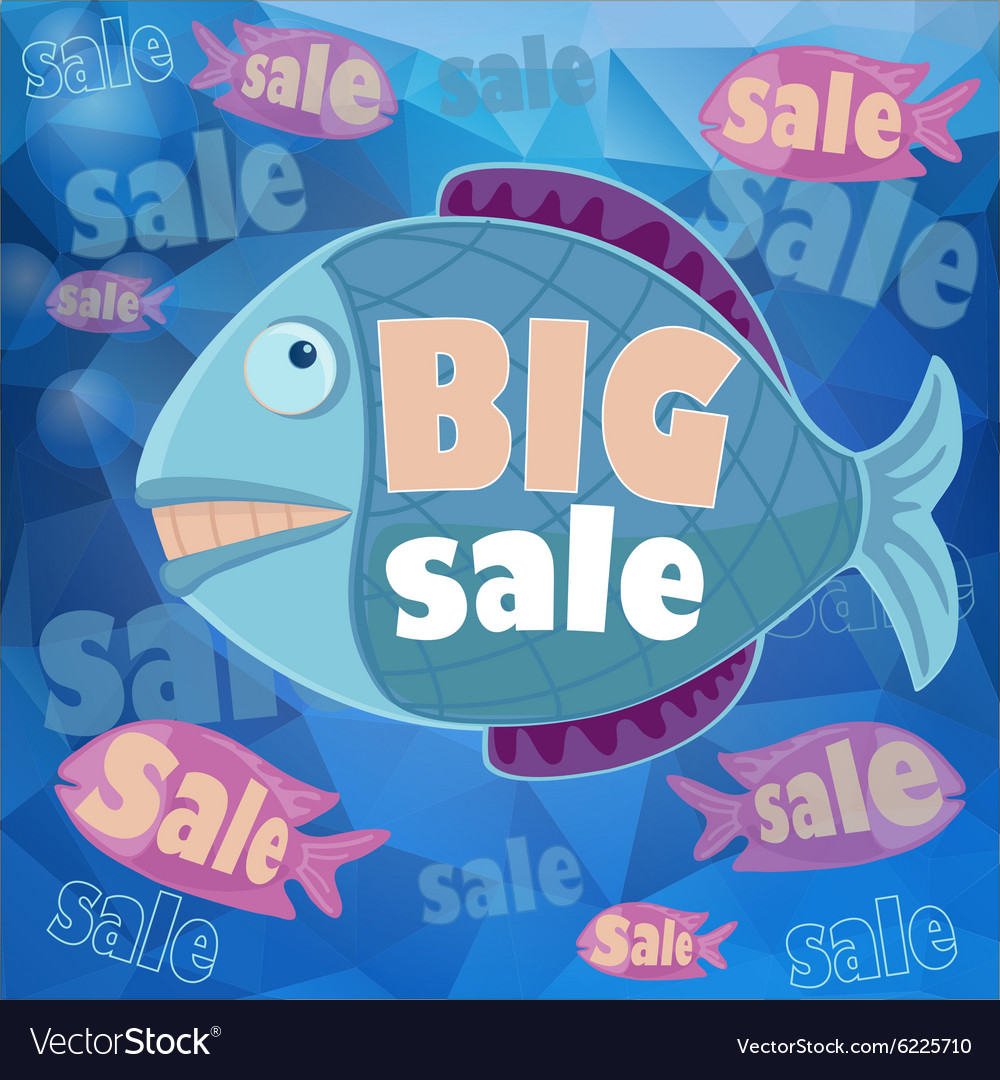 Big sale retro poster vector
