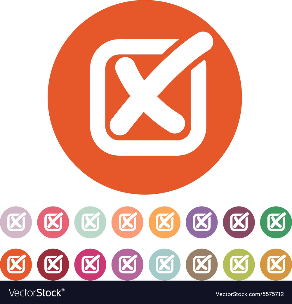 Check icon checkmark and checkbox no voting vector