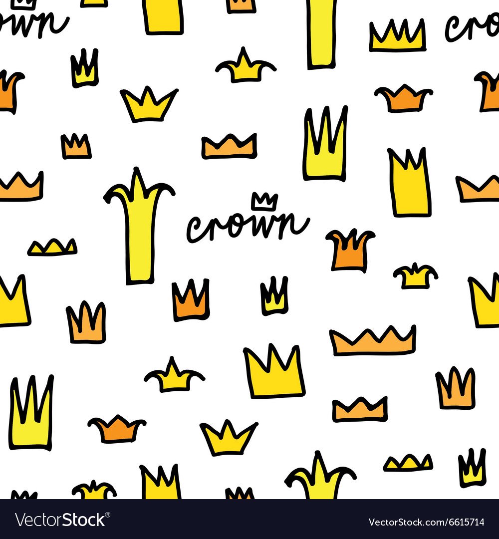 Crowns patterns background vector