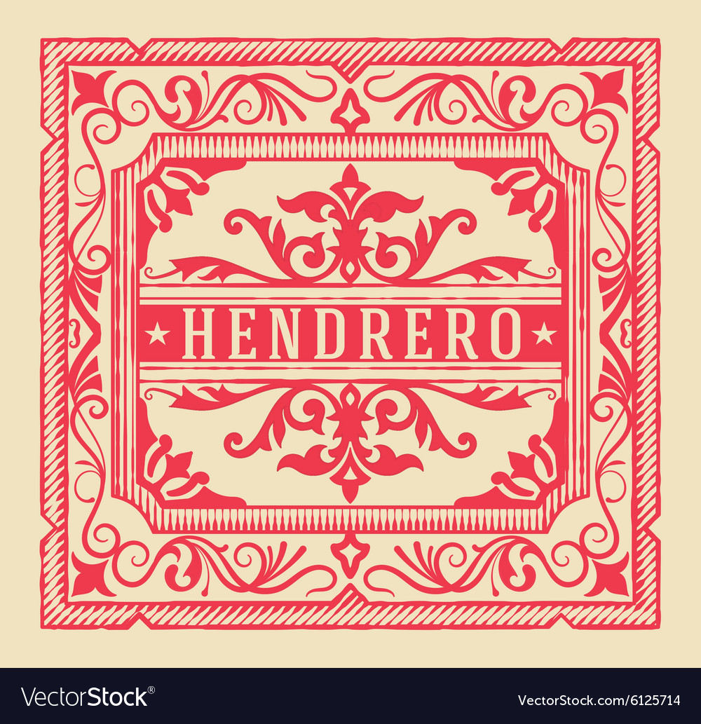 Premium quality card baroque ornaments and floral vector