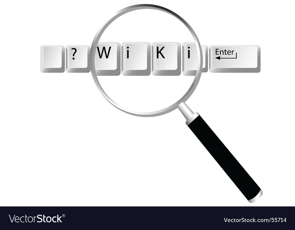 Wiki search logo vector
