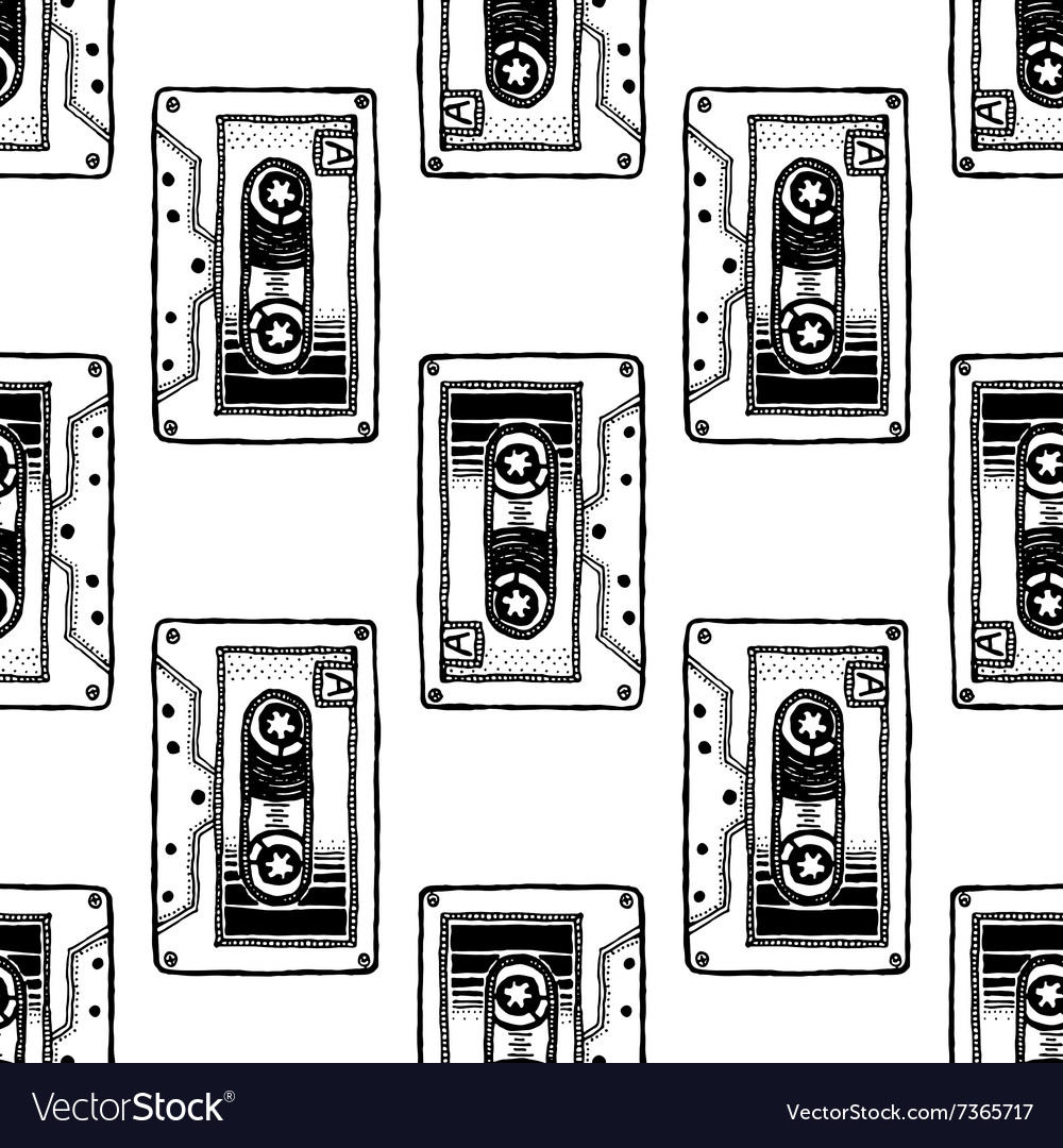 Audio cassette art for tshirt design vector