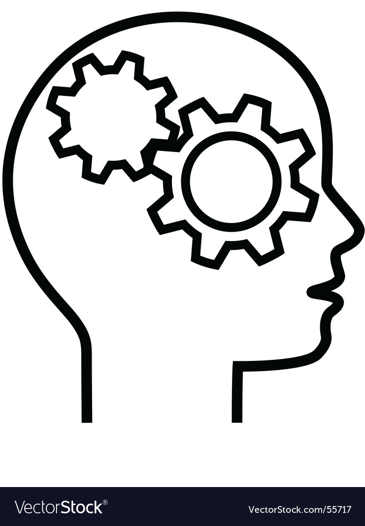 Brain cogs vector