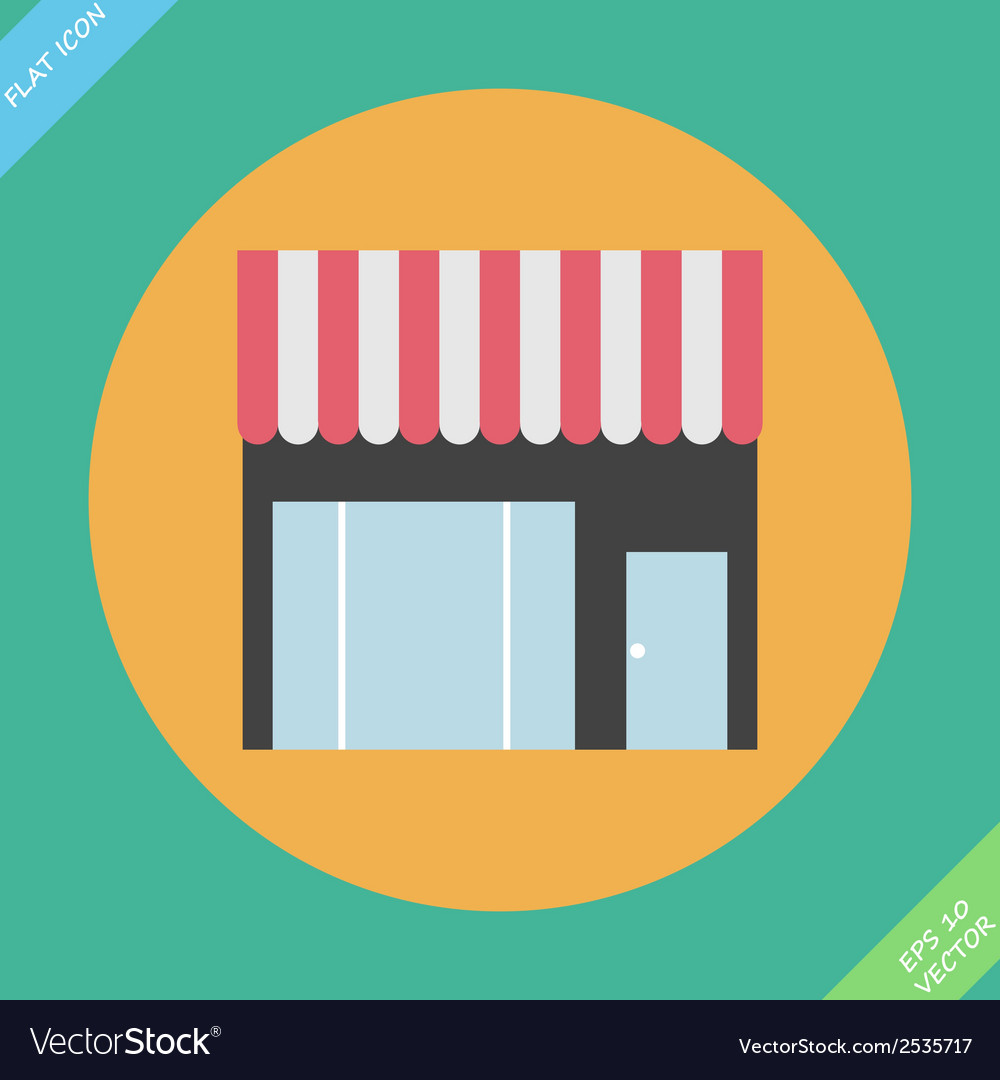 Storefront icon  vector