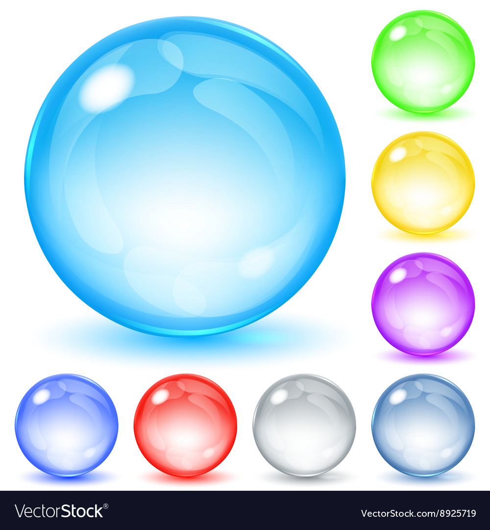 Opaque spheres vector