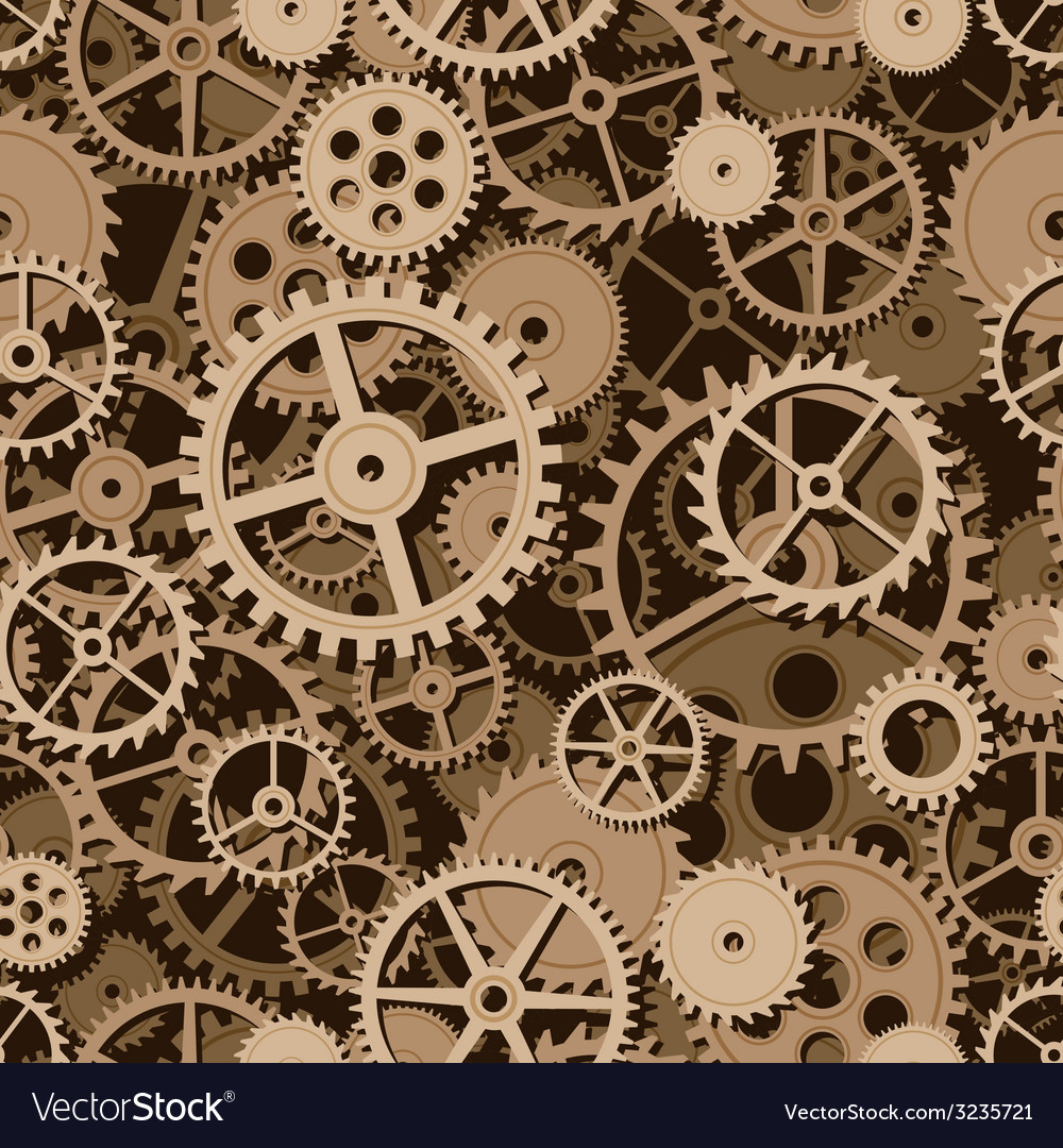 Gears seamless background vector