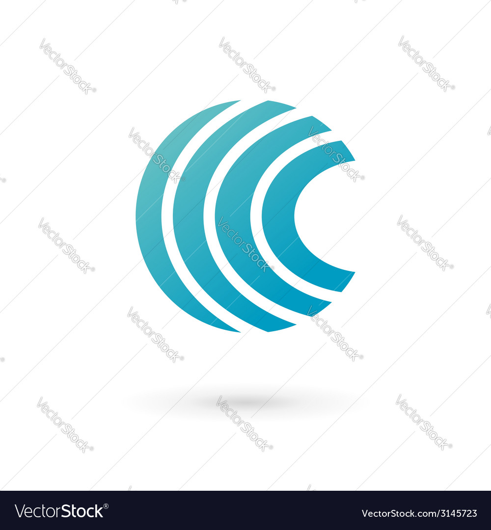 Letter c wireless logo icon design template vector