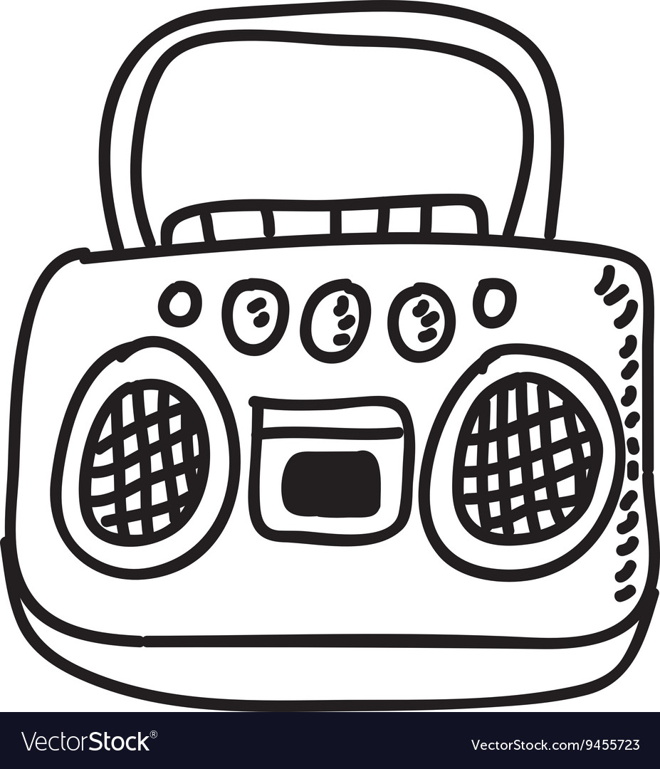 Radio drawing isolated icon design vector