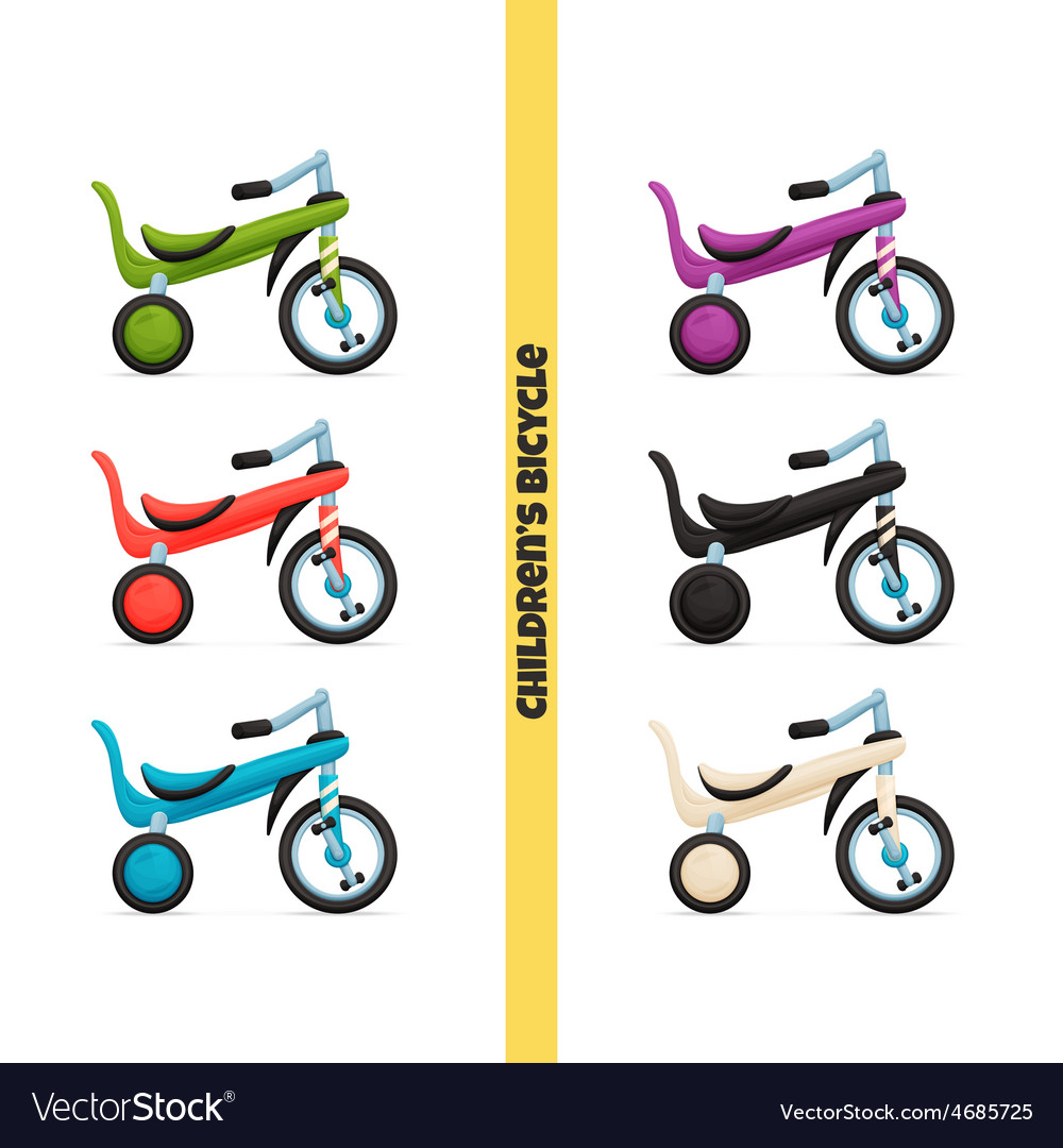 Childrens bicycle two vector