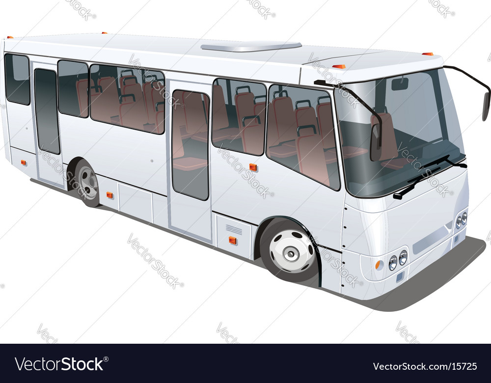 City mini bus vector