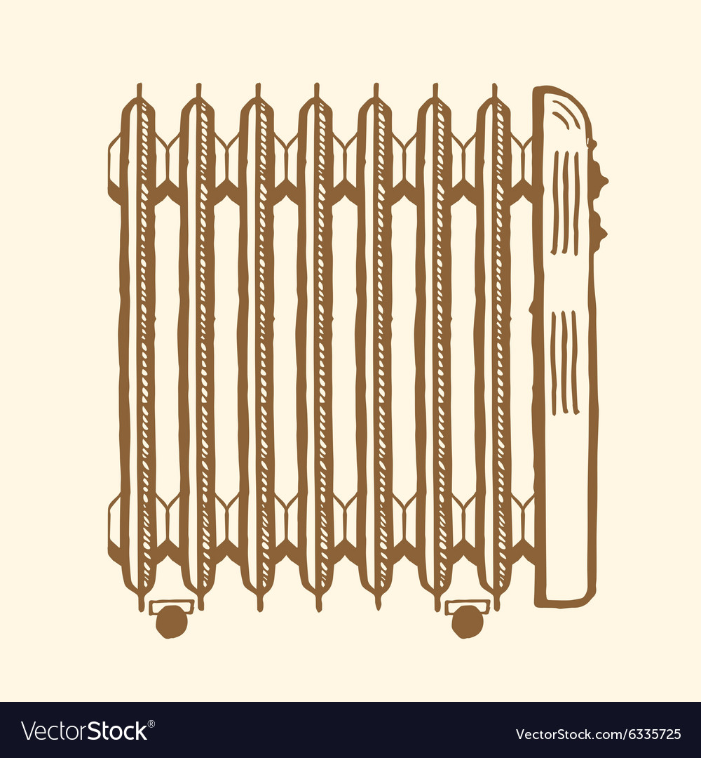 Oilfilled electric heater vector