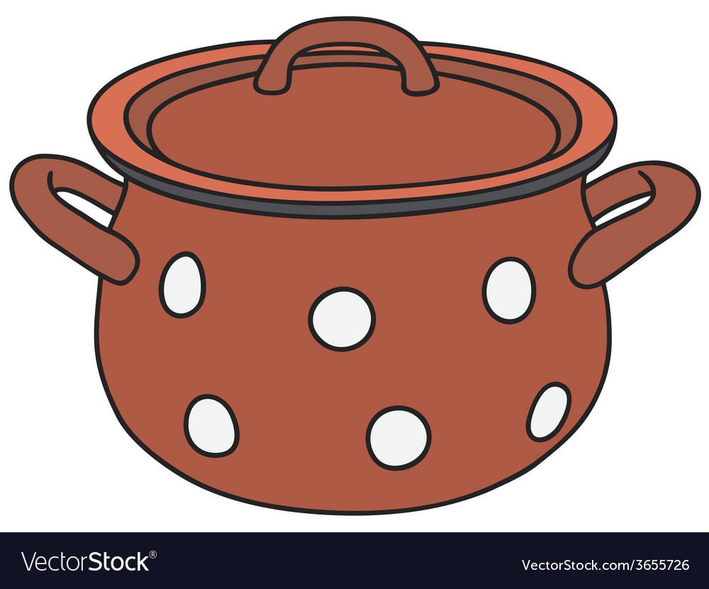 Red pot vector