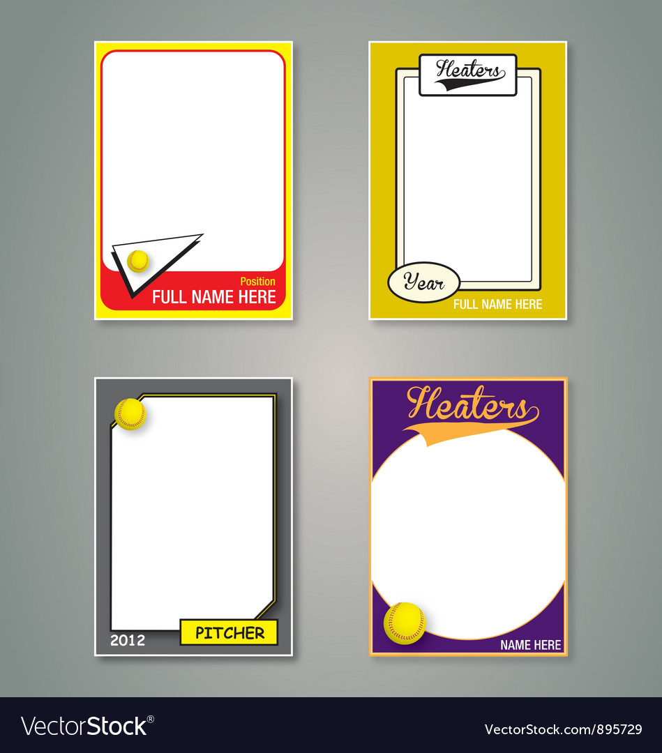 Softball cards vector