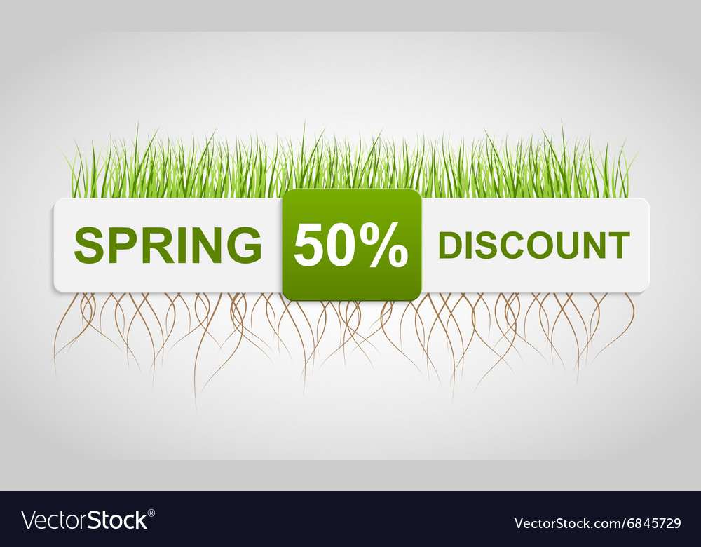 Spring sale discount banner template vector