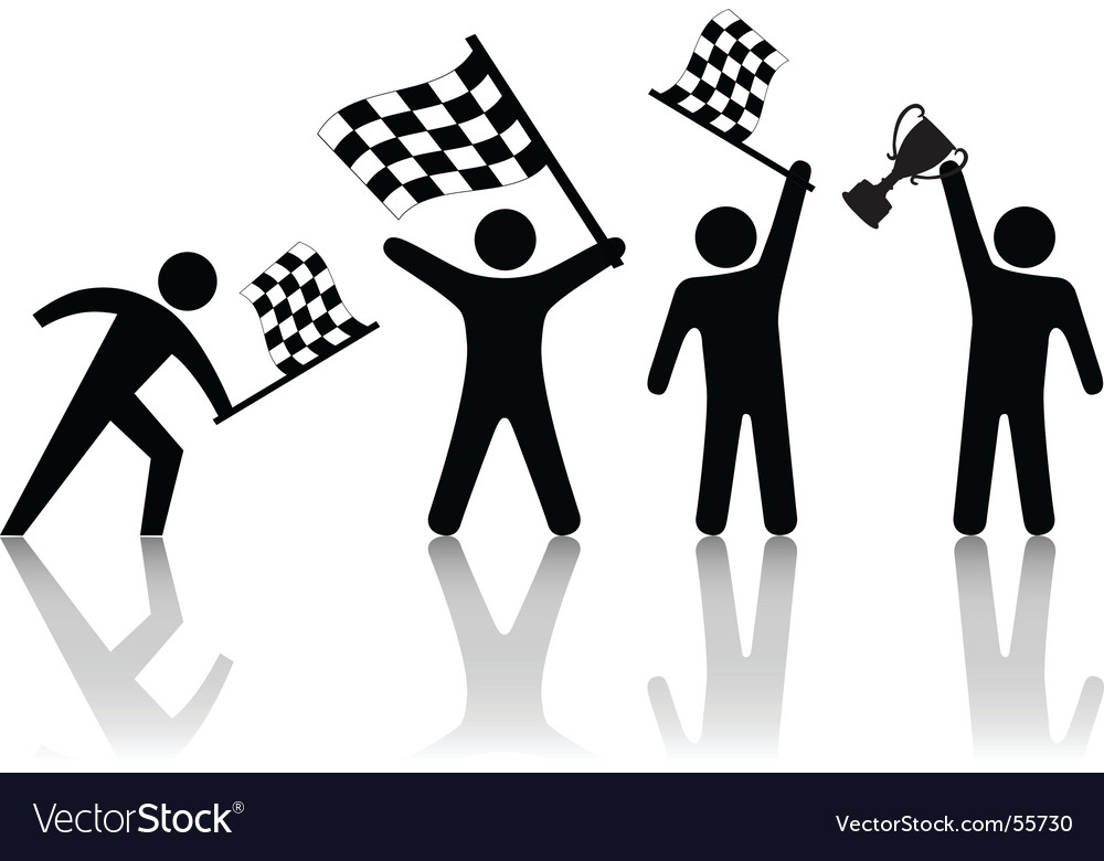 Checkered flag symbol vector