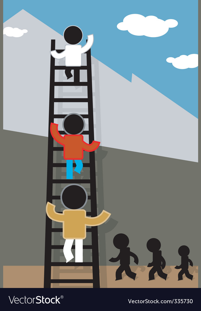 Ladder and sky vector