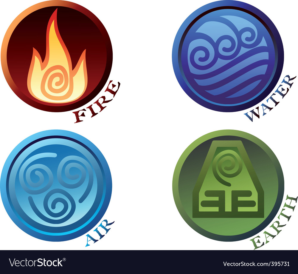 Symbols four elements of nature vector