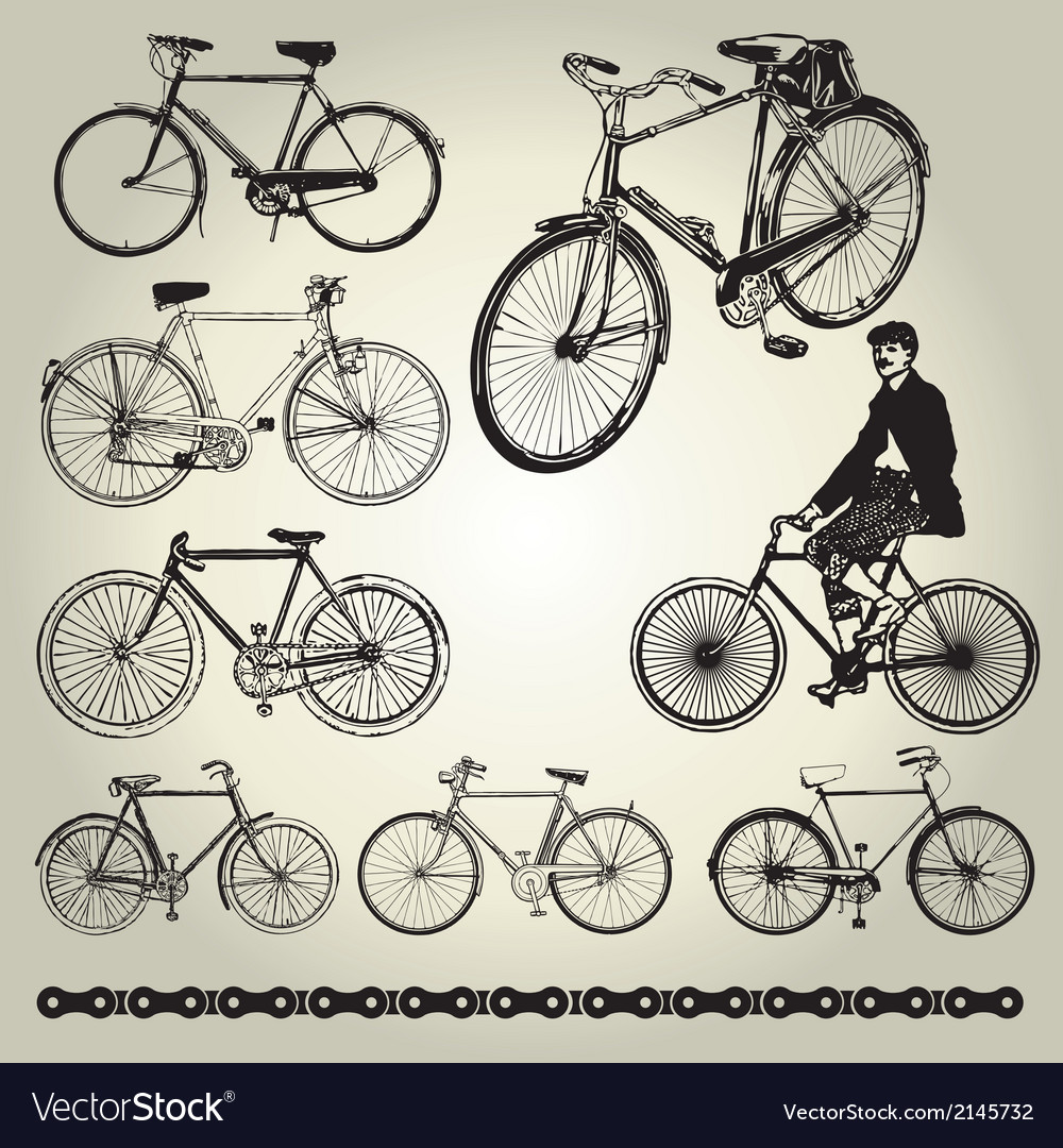 Bicycle-retro-vector