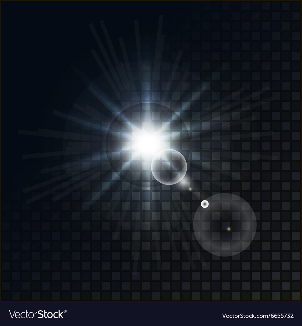 Bright star on a dark background vector