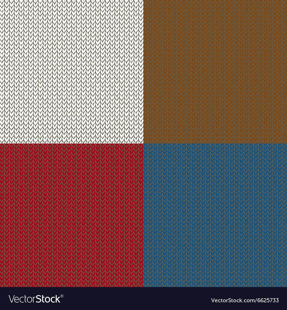 Seamless knited patterns vector