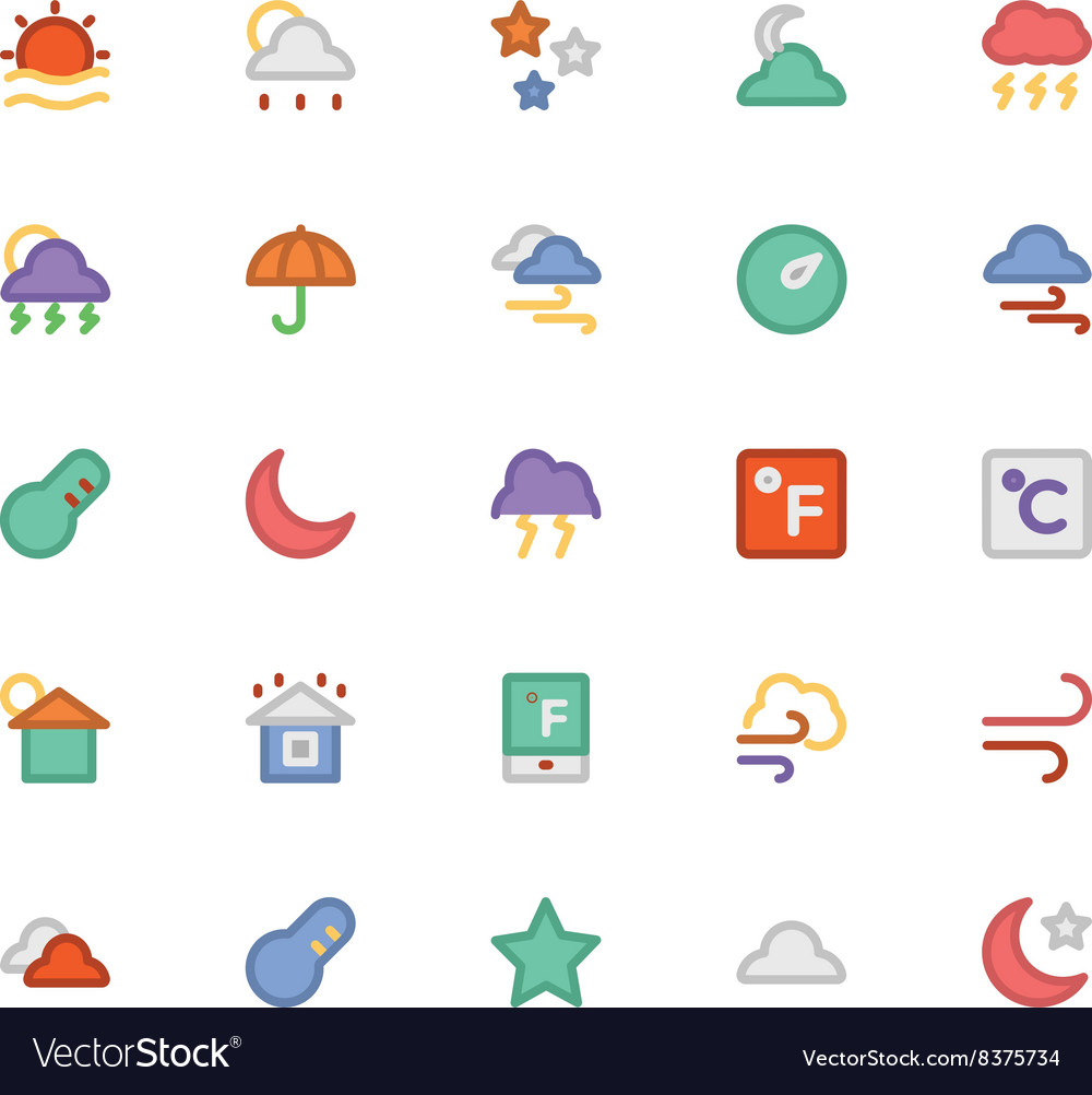 Weather icons 1 vector
