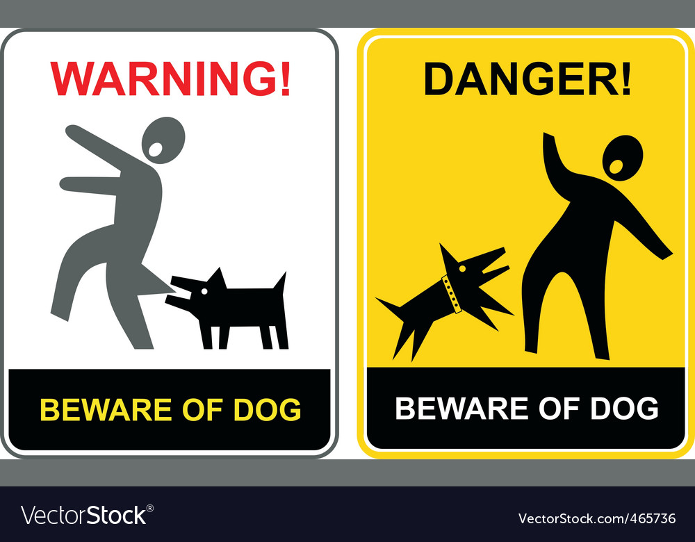 Danger beware of dog vector