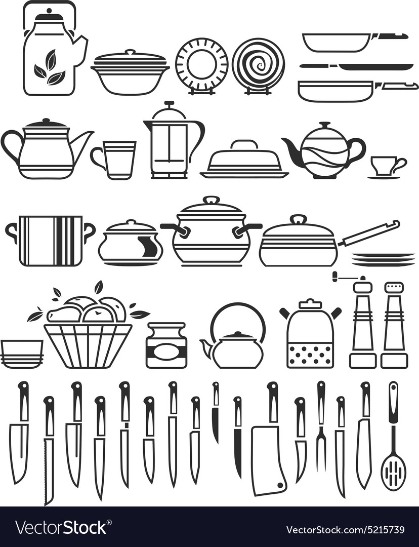 Kitchen stuff6 vector
