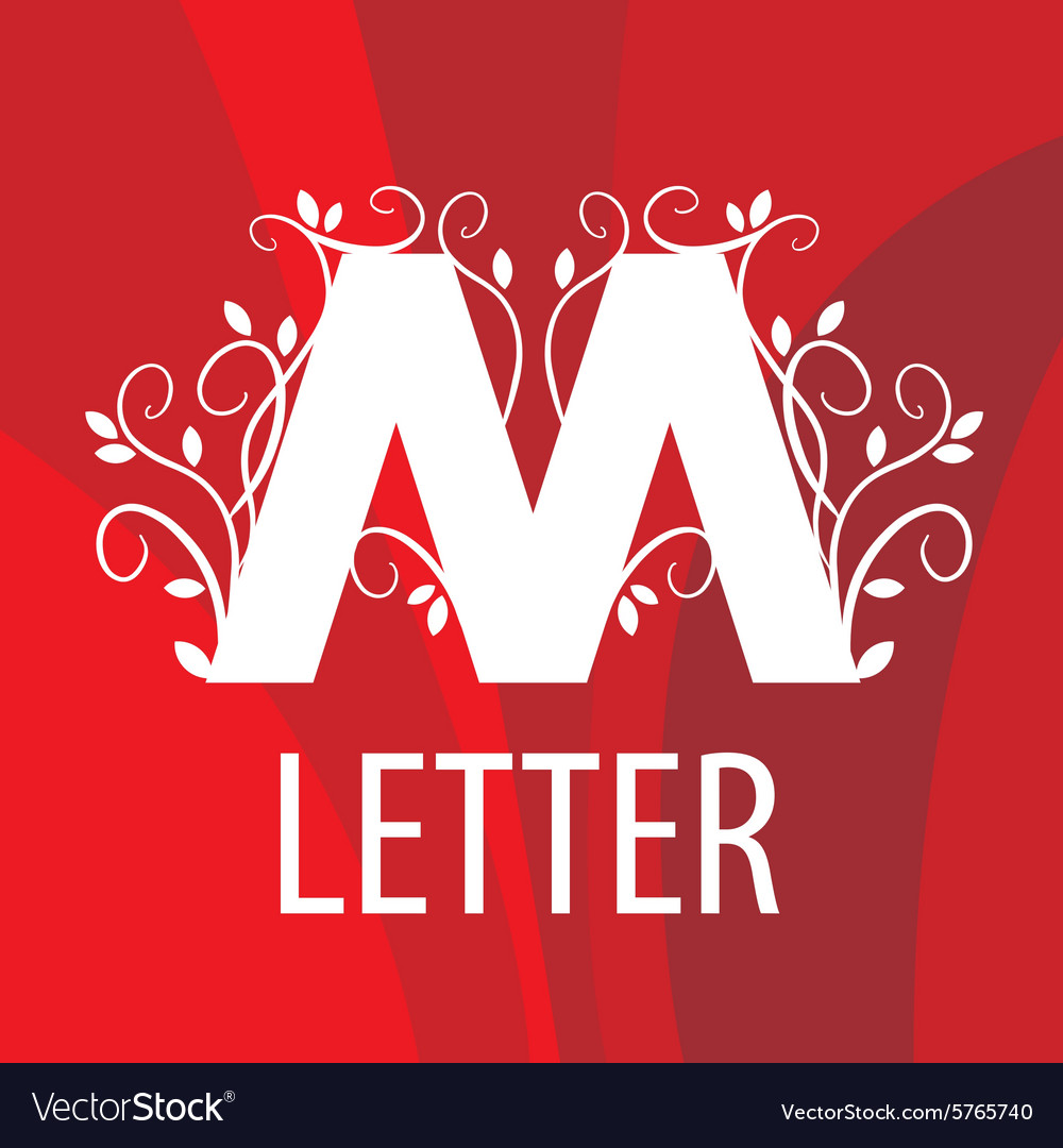Logo the letter m with vegetable patterns vector
